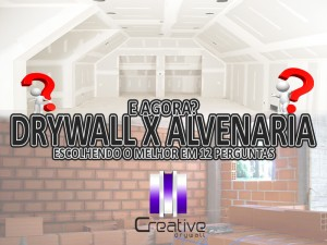 drywall x alvenaria